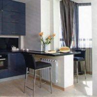 интерьер кухни с балконом фото 32
