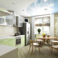 интерьер кухни с балконом фото 33