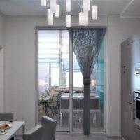 интерьер кухни с балконом фото 35