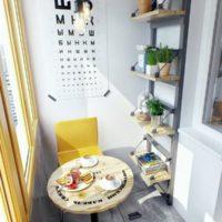 интерьер кухни с балконом фото 36