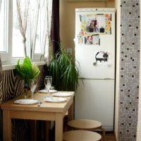 интерьер кухни с балконом фото 37