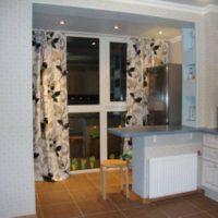 интерьер кухни с балконом фото 43