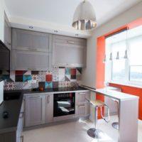 интерьер кухни с балконом фото 44