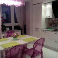 интерьер кухни с балконом фото 47