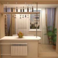 интерьер кухни с балконом фото 5