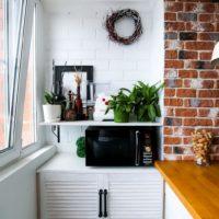 интерьер кухни с балконом фото 53