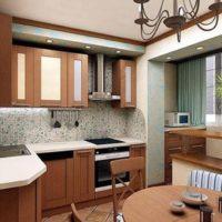 интерьер кухни с балконом фото 6