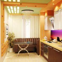 интерьер кухни с балконом фото 7