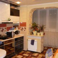 интерьер кухни с балконом фото 8