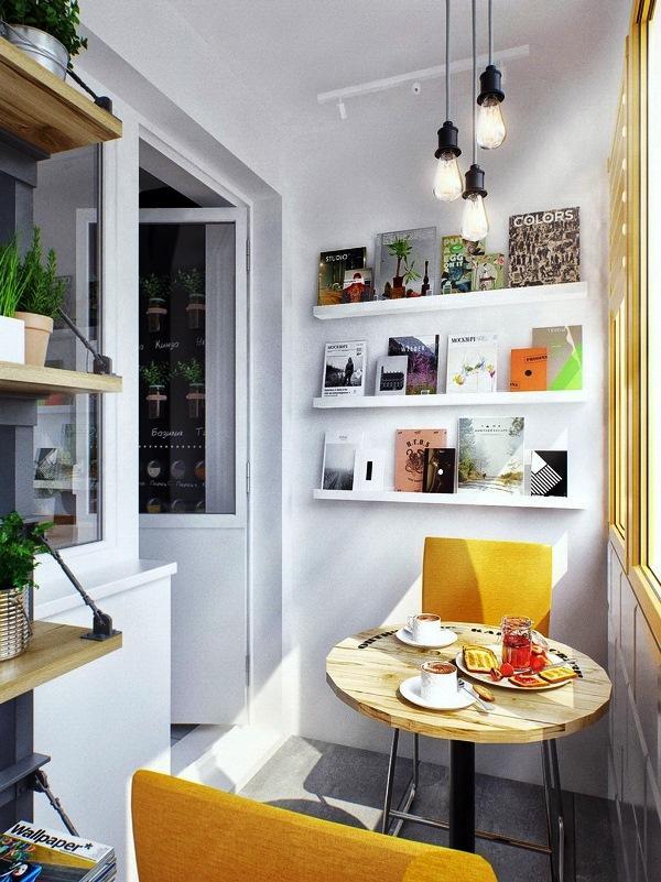 балкон присоединенный к кухне фото