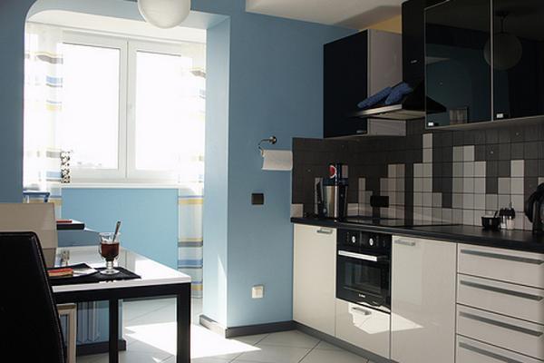 кухня соединенная с балконом фото дизайн