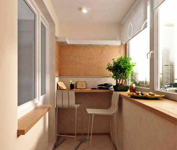 ремонт кухни с балконом фото 19
