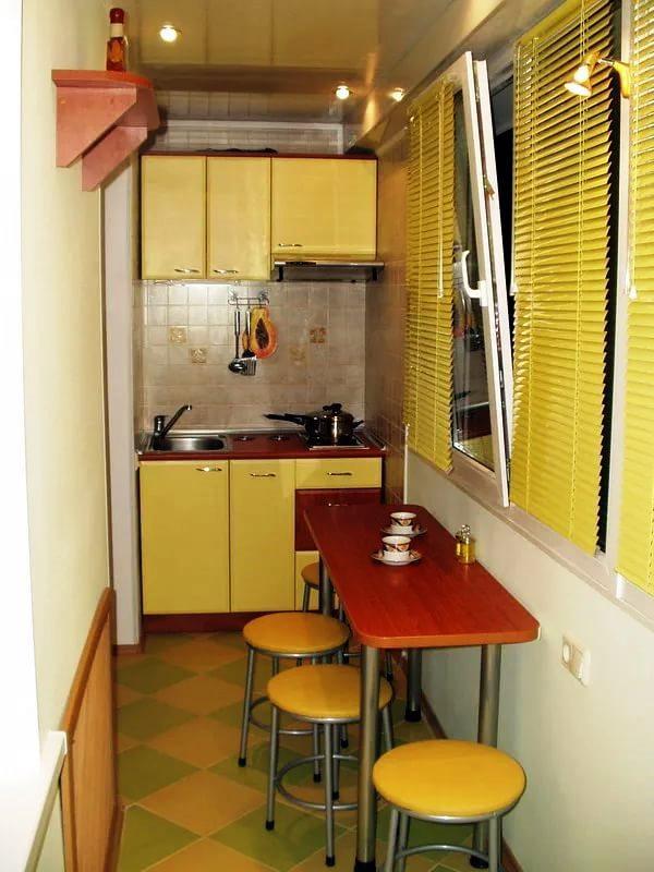 кухня на балконе или лоджии фото дизайн