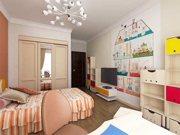 дизайн спальни совмещенной с детской