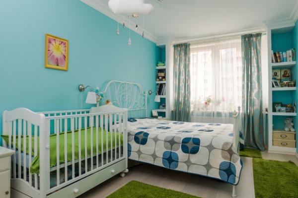 спальня и детская в одной комнате фото 12