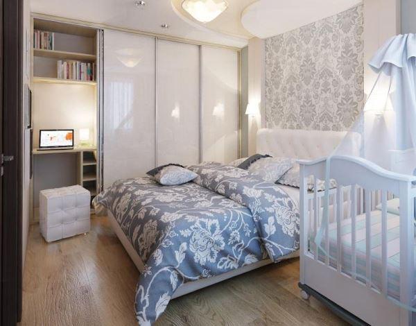 спальня и детская в одной комнате фото 16