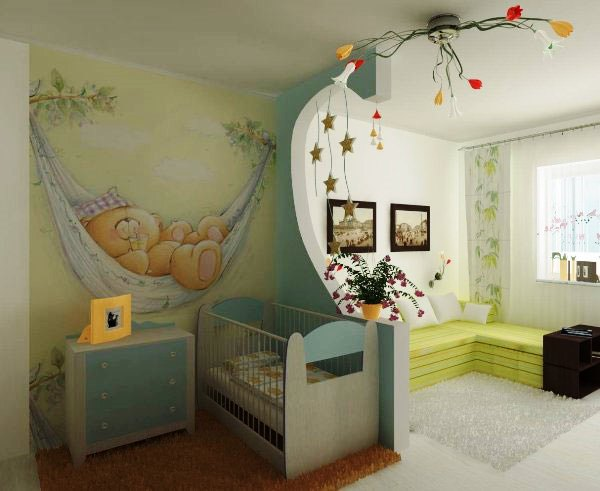 комната для родителей и ребенка фото