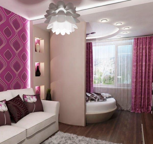 дизайн спальни совмещенной с детской фото