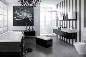 черно-белая ванная фото 10