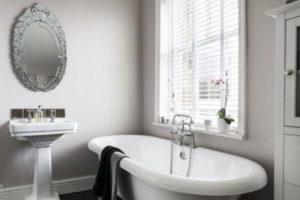 черно-белая ванная фото 11