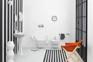 черно-белая ванная фото 12