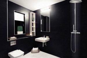 черно-белая ванная фото 14