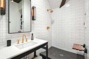 черно-белая ванная фото 15