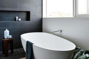 черно-белая ванная фото 16