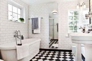 черно-белая ванная фото 19