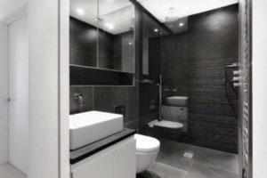 черно-белая ванная фото 2