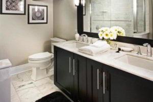 черно-белая ванная фото 21