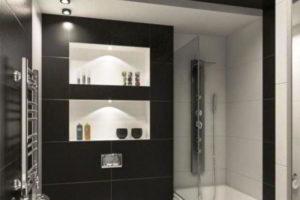 черно-белая ванная фото 22