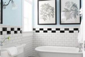 черно-белая ванная фото 23