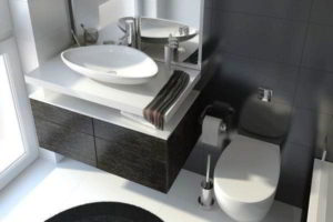черно-белая ванная фото 28