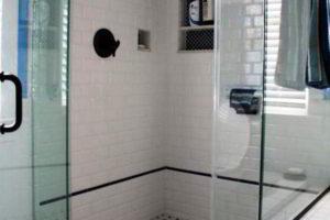 черно-белая ванная фото 29