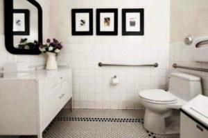 черно-белая ванная фото 3