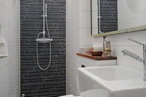 черно-белая ванная фото
