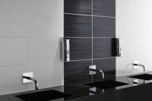 черно-белая ванная фото 32