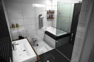 черно-белая ванная фото 33