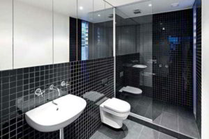 черно-белая ванная фото 34