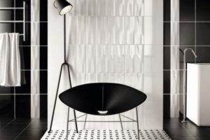черно-белая ванная фото 35