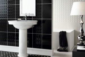 черно-белая ванная фото 36