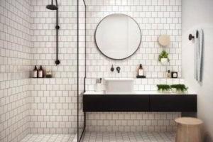 черно-белая ванная фото 4