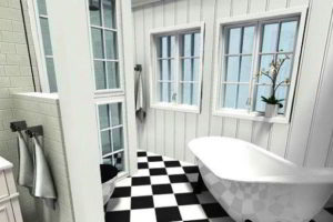 черно-белая ванная фото 7