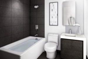 черно-белая ванная фото 9