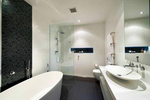 ванная комната в черно белом цвете фото 2
