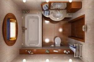 ванная с туалетом 3 кв. м фото 26