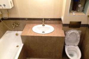 ванная с туалетом 3 кв. м фото 32