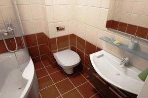 ванная с туалетом 3 кв. м фото 40