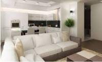 интерьер гостиной совмещенной с кухней
